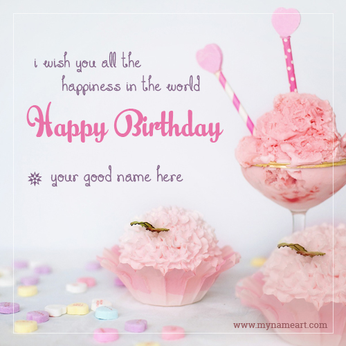 Birthday Cake Name Editor Online Application