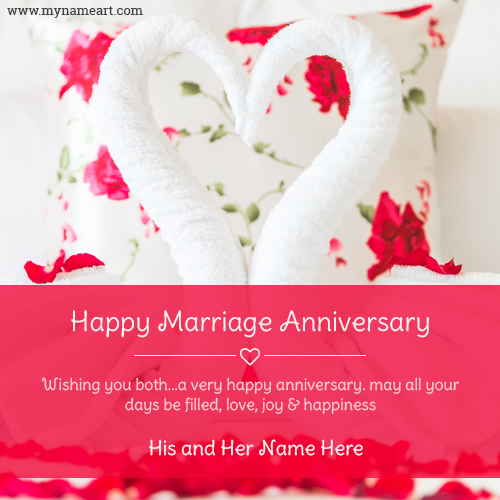 Happy Anniversary To Lovely Couple With Name Picture