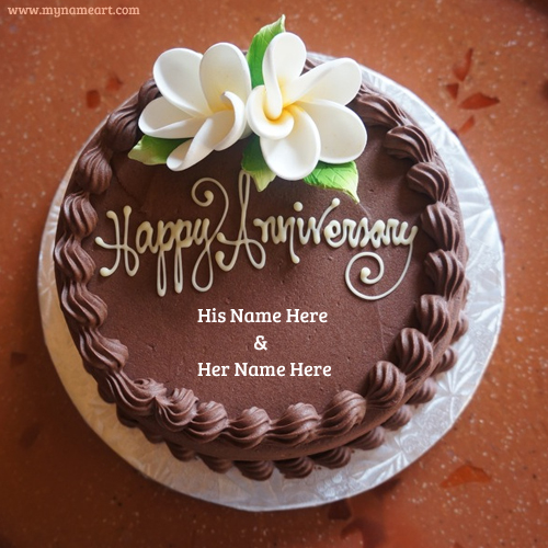 Happy Anniversary Wishes Couple Name Cake wishes ...