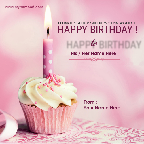 Birthday Cake Name Card For Friends wishes greeting card