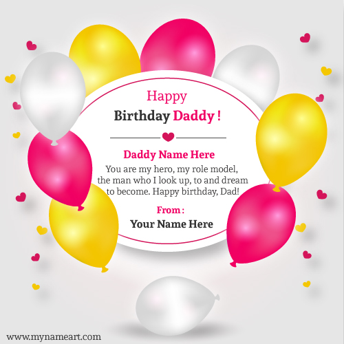 Happy Birthday Card For Daddy