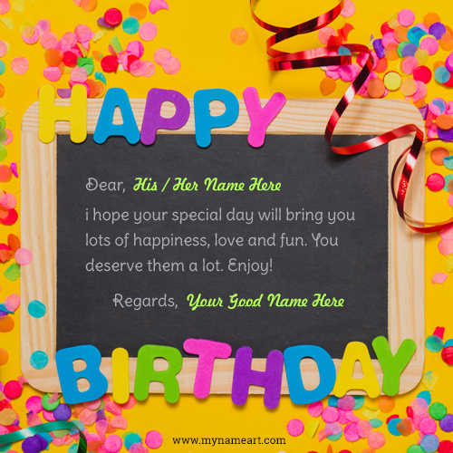 Dear Name With Happy Birthday Message Whatsapp Profile Pics