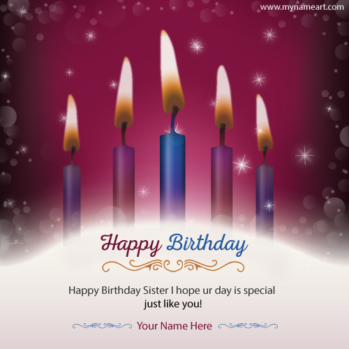 Create Birthday Wishes Image For Sister
