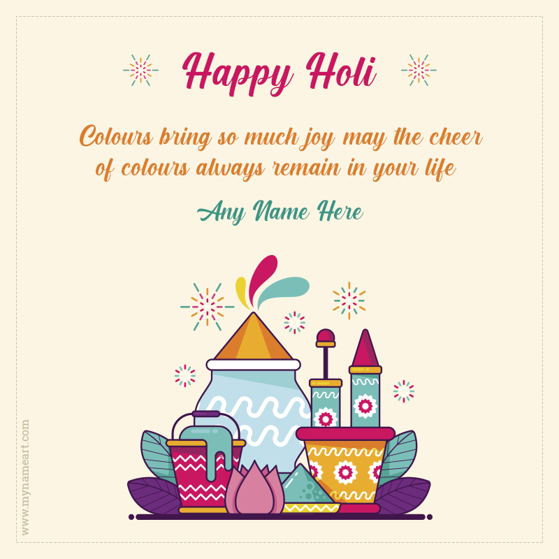 Happy Holi Quotes With Name Image