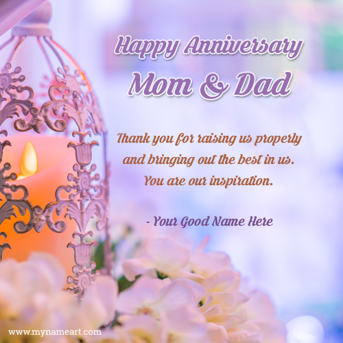 Online anniversary card maker free happy marriage anniversary wishes to mom and dad m4hsunfo