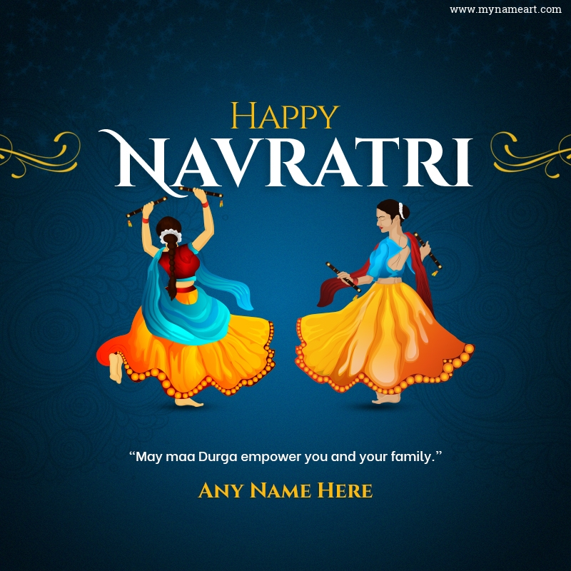 Add My Name For Happy Navratri Wishes In English