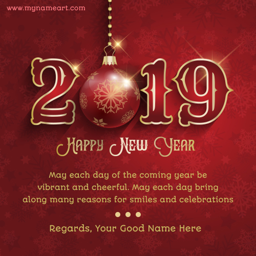 Happy New Year 2019 Message