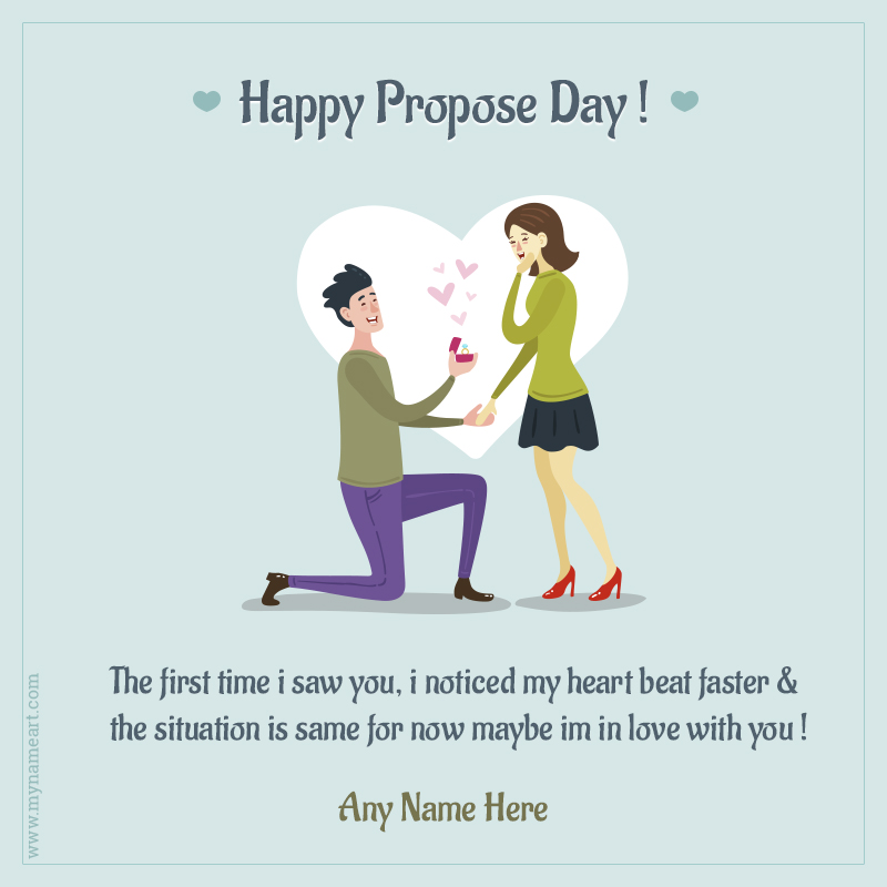 Happy Propose Day My Love Greeting Card