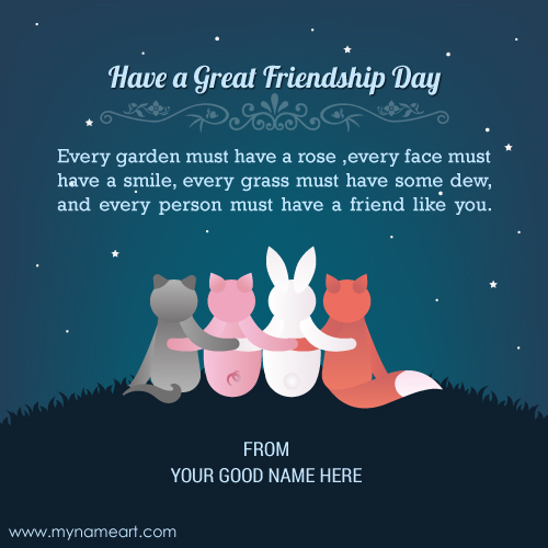 Edit Happy Friendship Day 2016 Quote Image With Name