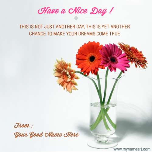 Inspirational Day Quotes: Have A Nice Day With Sucess Message