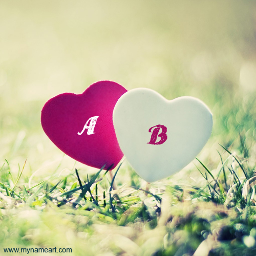 Heart Alphabet Names Pictures