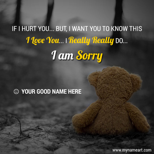 I Am Really Sorry For GF Or BF