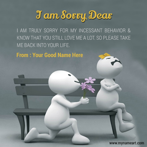 Quotes To Say Sorry To Your Girlfriend With Name Funny Image