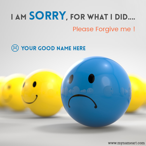 Sad Face Smiley Blue Boll Image With Name