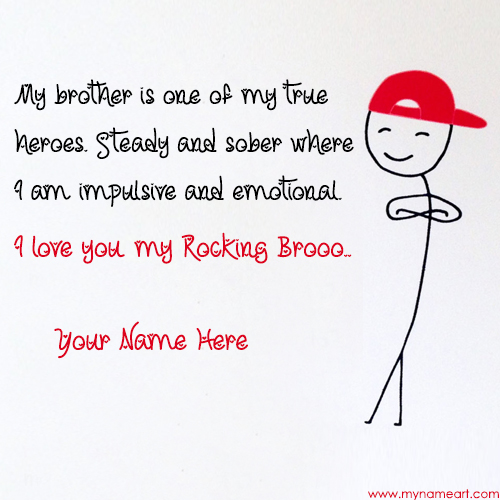 I Love You Image Edit For Brother With Name