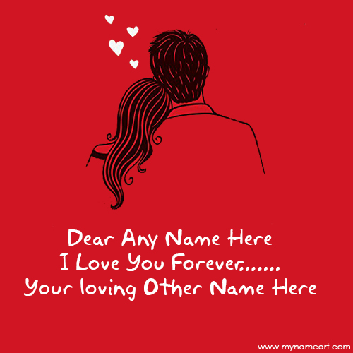 Write Lovely Couple Name On Forever Love Quotes Image