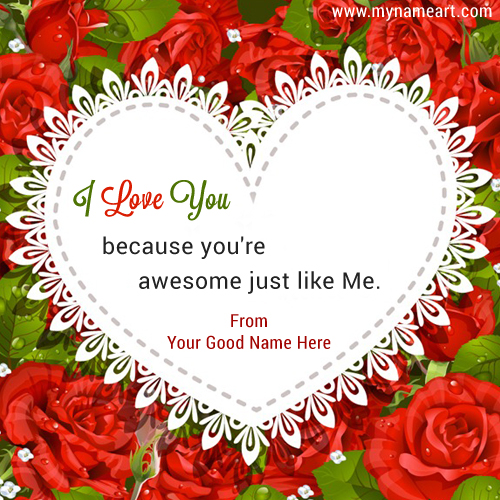 I Love You Quotes Vector Name Picture