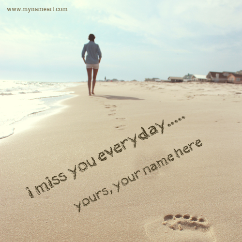I Miss You Name Pictures Create Online