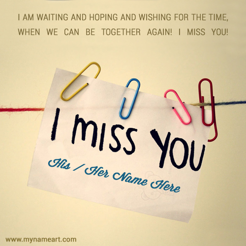 Sweet Quotes Miss You Image With Name Edit