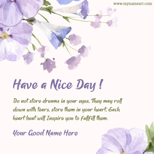 Inspiring Have A Nice Day Message Picture