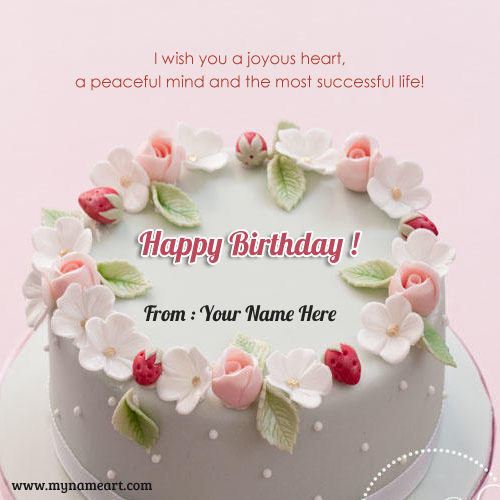 Write Your Name On Birthday Cake Image For Whatsapp Send – Birthday Greeting Cards with Name