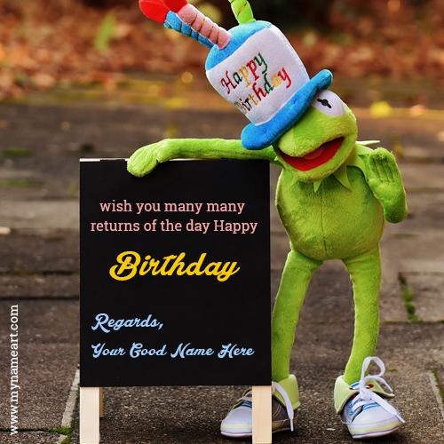 Kid Birthday Cartoon Greeting Card