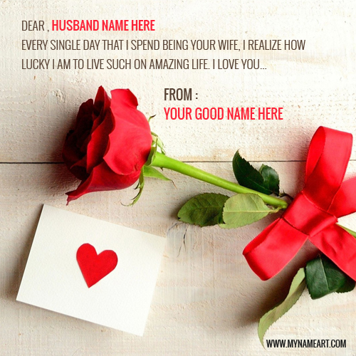 Love Quotes For Husband With Red Rose