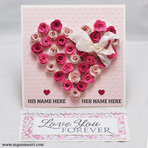 Love You Forever Love Heart Couple Name Picture