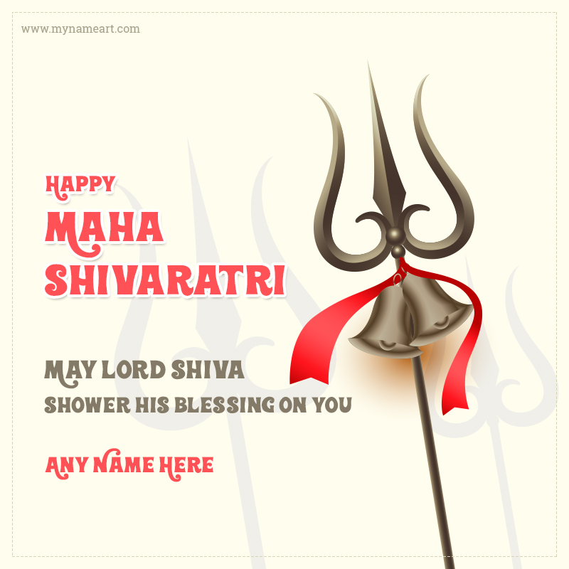 Maha Shivratri Greeting Card With Name