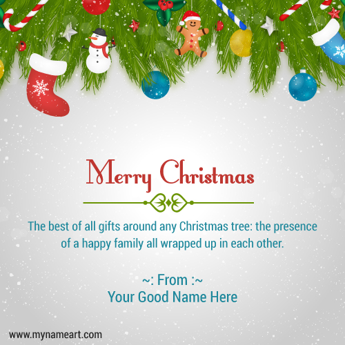 Merry Christmas Family.Merry Christmas Wishes Greeting Card For Family