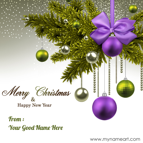 Merry Christmas & Happy New Year With My Name