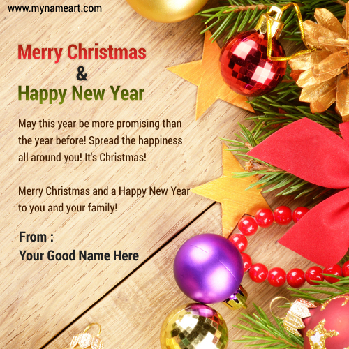 Merry Christmas & New Year Family Wishes