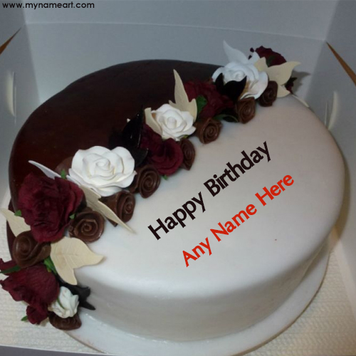 Cute And Sweet Birthday Cake With Your Name Write Name On: Write Sister Name On Fashion Birthday Cake