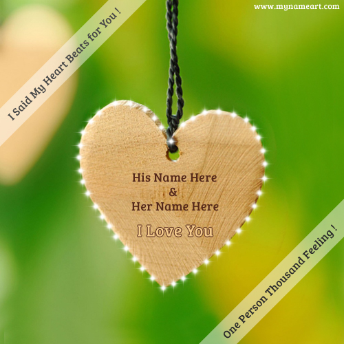 Write Couple Name On I Love You Pics Online