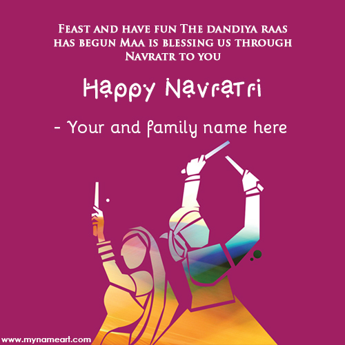 Navratri Wishes Card