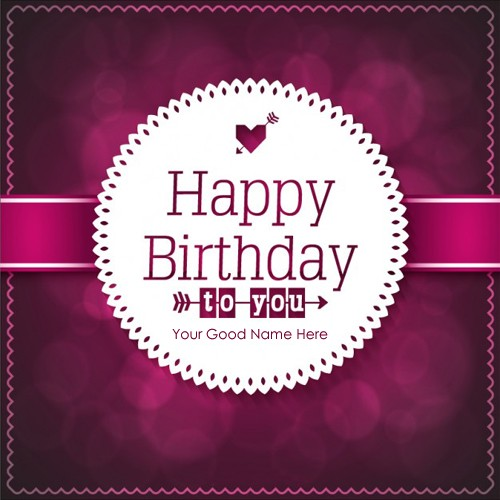 simple birthday card maker online  wishes greeting card, Birthday card