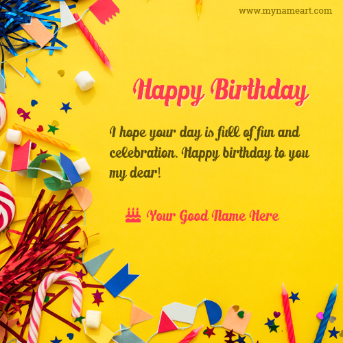 Decorative item image with my name for happy birthday wishes create card bookmarktalkfo Choice Image