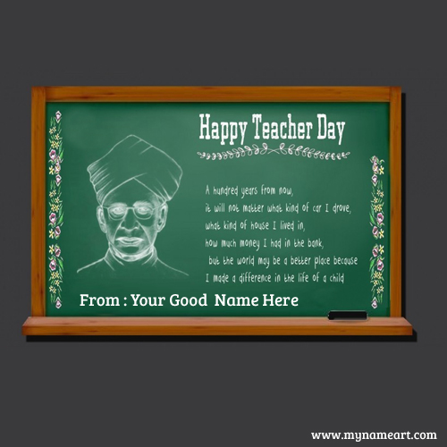 Radha Krishna Sarvepalli Teachers Day Quotes Greetings Card
