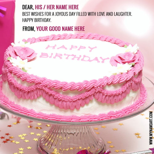 Unique Birthday Cake Pictures With Name Write Online Free wishes