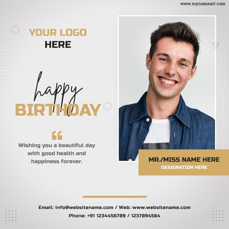 Editable Birthday Card Template