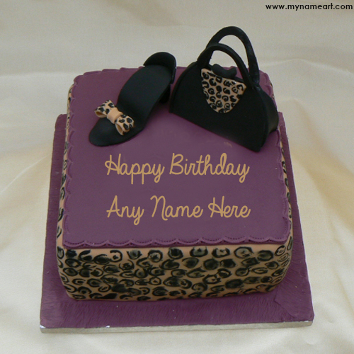 Write Sister Name On Fashion Birthday Cake