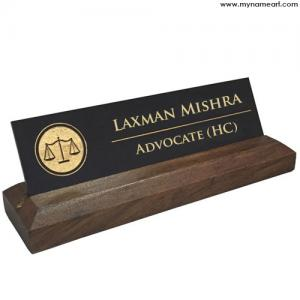 Wooden Name Plate For Advocates
