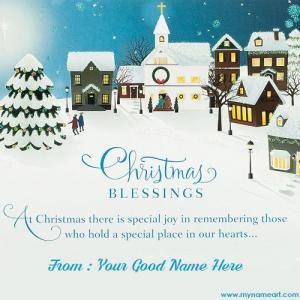 Christmas Blessings To You With My Name