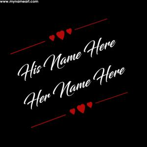 Couple Name Signature Black Background