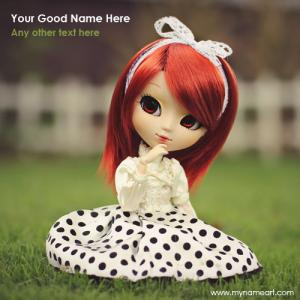 Cute Doll In Red Wig