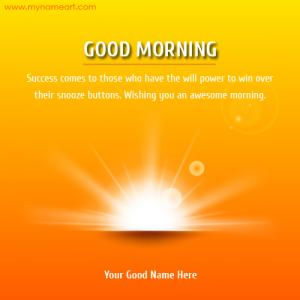 Good Morning Inspiration Card
