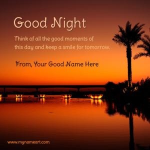 Good Night Good Moments Wishes Quotes Picture With Name