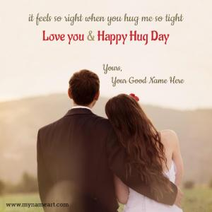 Happy Hug Day Quotes For Lover With Name