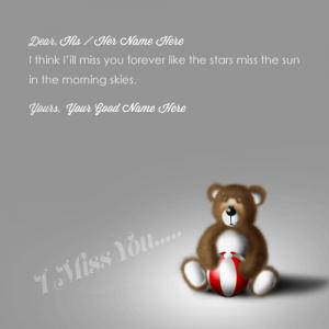 I Miss You Teddy Bear With Quotes Pics