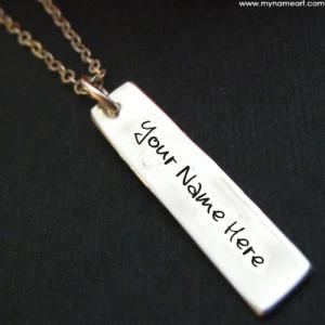 Bar Necklace Image With Name Edit